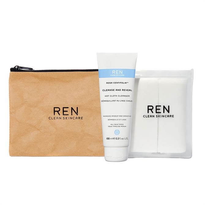 REN Cleanse and Reveal Hot Cloth Cleanser Starter Kit
