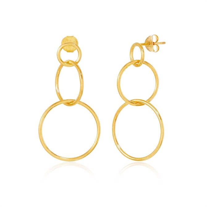 Rodgers & Rodgers Halo Interlocked Circle Earrings