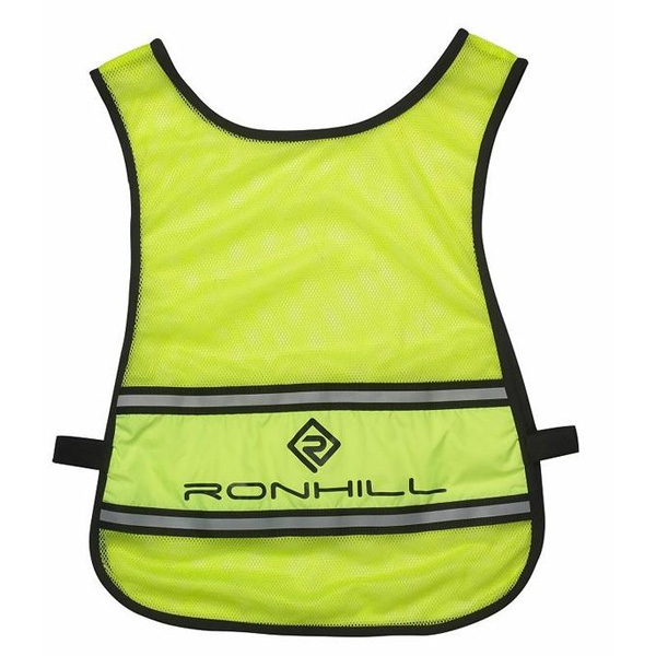 An image of Ronhill Vizion Reflective Bib - Fluorescent Yellow - One Size, FLUO/YELLOW