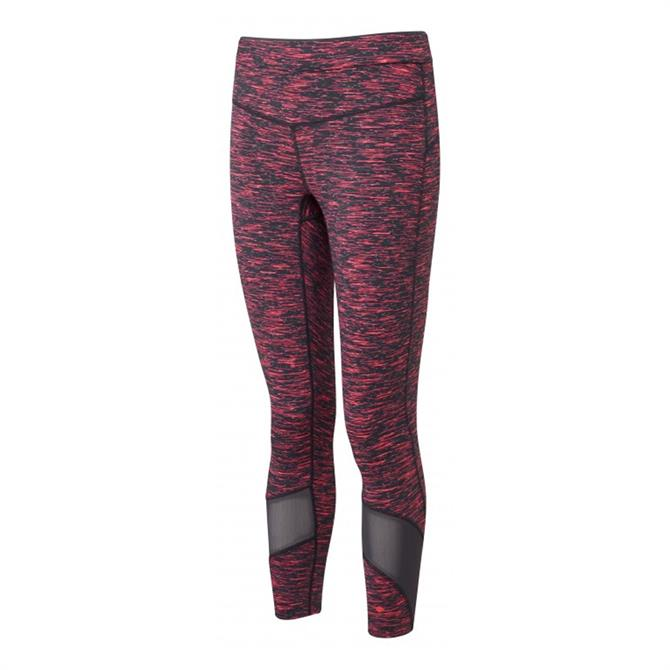 Ronhill Women's Infinity Crop Running Tights - Charcoal/ Hot Pink Marl