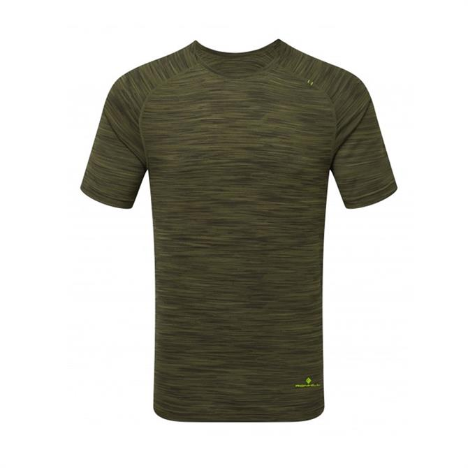 Ronhill Men's Infinity Air Dry Short Sleeve Running Top - Dark Khaki