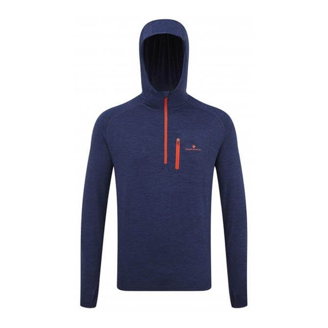 Ronhill Men's Momentum Workout Hoodie- Midnight Blue