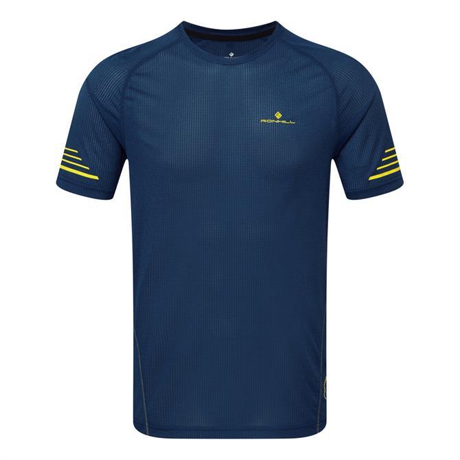 Ronhill Men's Stride Short Sleeve Running Crew - Azurite