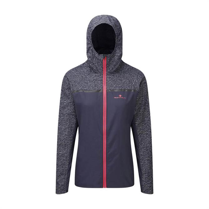 Ronhill Women's Momentum Afterlight Running Jacket- Charcoal/Hot Pink