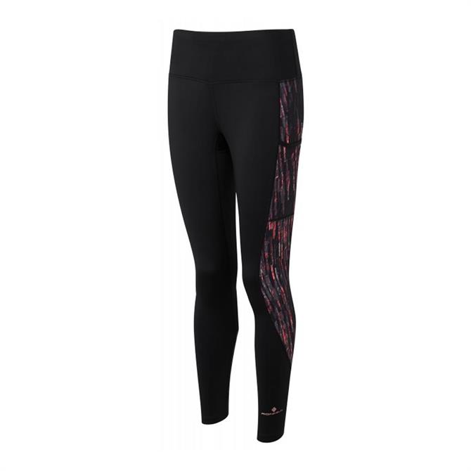 Ronhill Women's Momentum Sculpt Tight – Black/ Hot Pink Glass