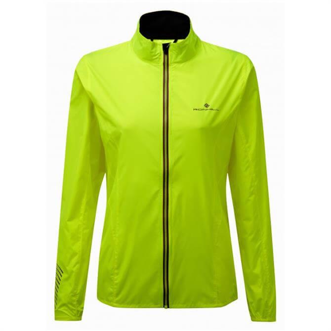 Ronhill Women's Stride Windspeed Jacket- Fluo Yellow/Grape Juice