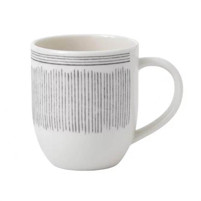 Royal Doulton Ellen DeGeneres Charcoal Grey Lines Mug