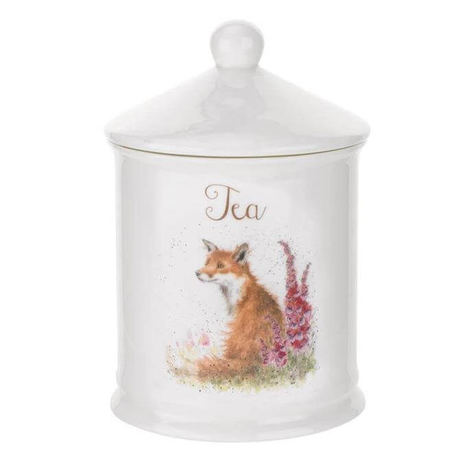 Royal Worcester Wrendale Fox Tea Caddy