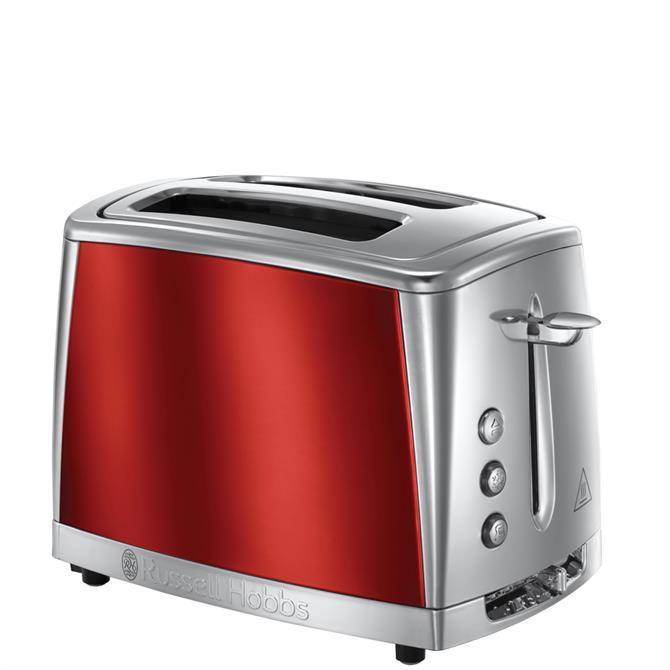 Russell Hobbs Luna 2 Slice Red Toaster
