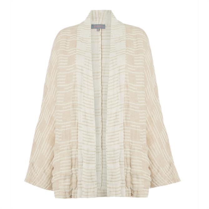 Sahara Double Natural Stripe Linen Jacket