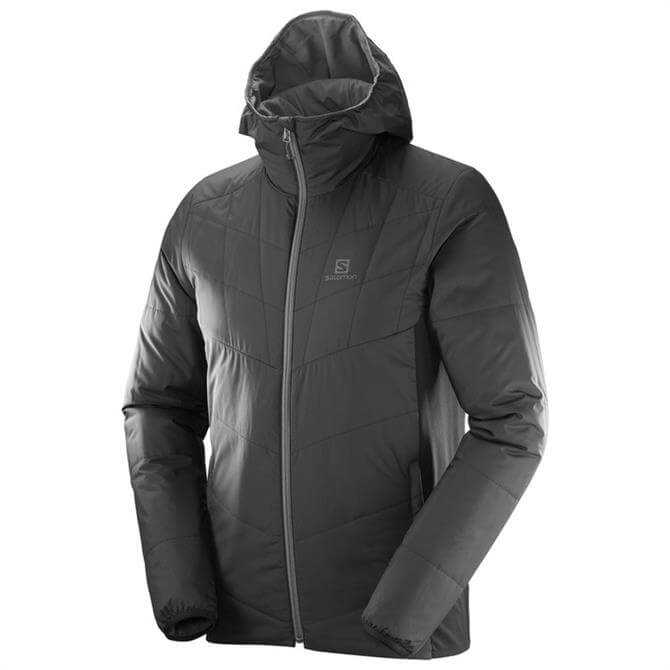 Salomon Men's Drifter Mid Hoodie Jacket- Black