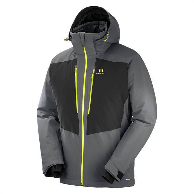 Salomon Men's IceFrost Ski Jacket- Iron Black