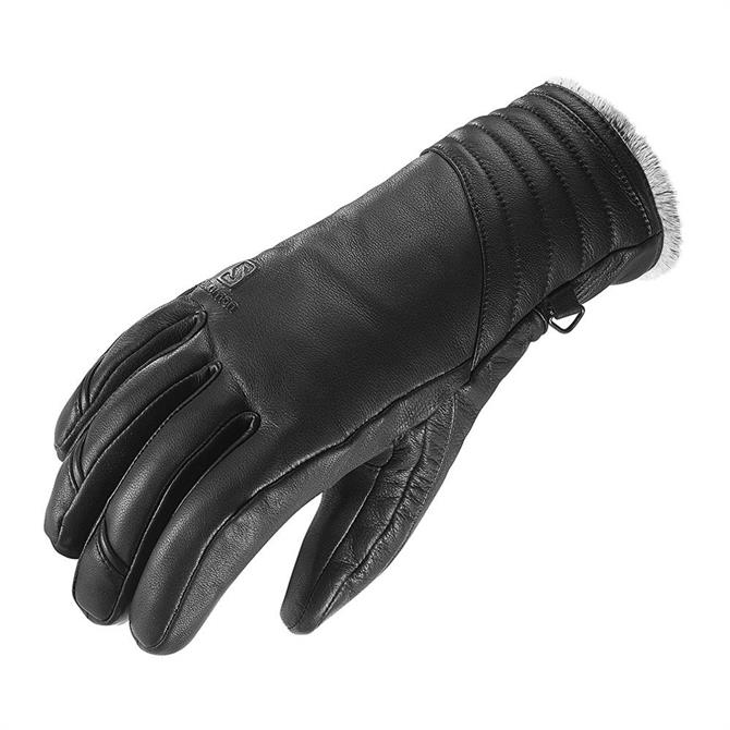 Salomon Women's Native Leather Ski Gloves- Black