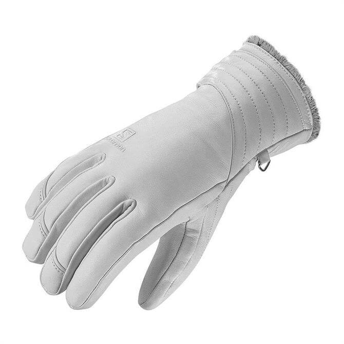 Salomon Women's Native Leather Ski Gloves- White