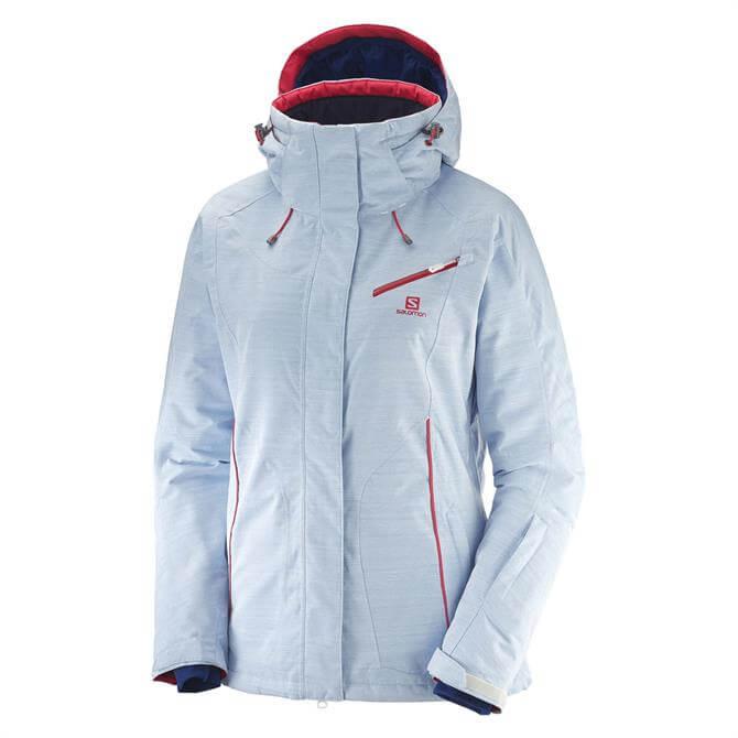 Salomon Women's Fantasy Hooded Ski Jacket- White