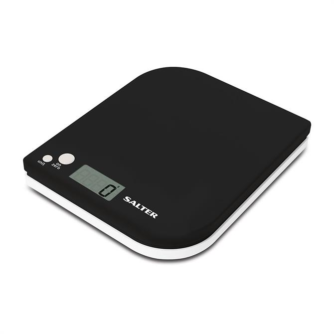 Salter Leaf Electronic Digital Kitchen Scale: Black