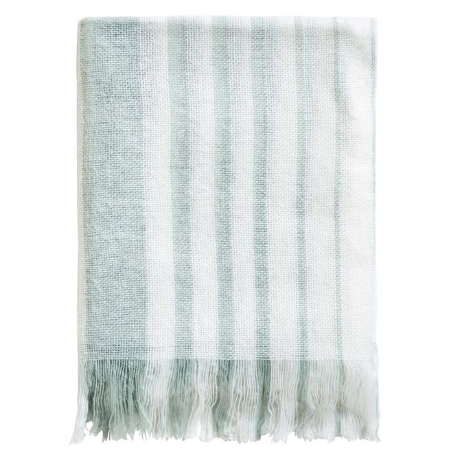 Sanderson Options Etchings & Roses Blanket Throw: Duck Egg Blue
