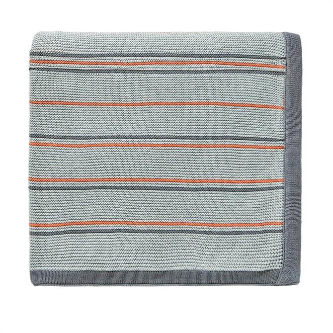 Sanderson Home Pippin Charcoal Knitted Throw