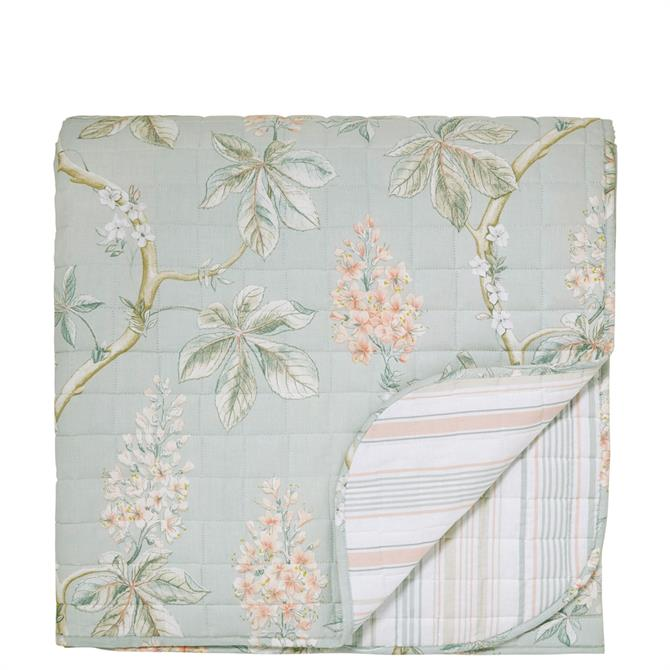 Sanderson Chestnut Tree Aqua Quilted Throw
