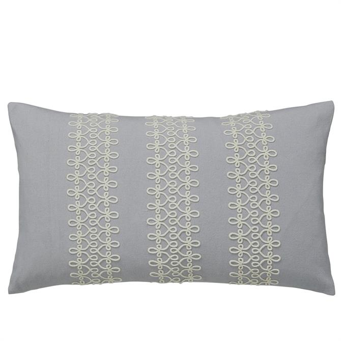 Sanderson Chiswick Grove Silver Cushion