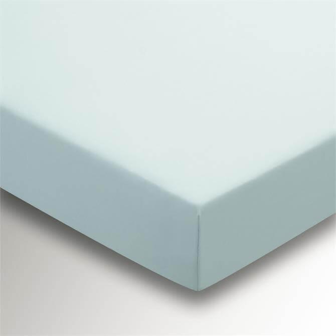 Sanderson Options Plain Dye Duck Egg Fitted Sheet
