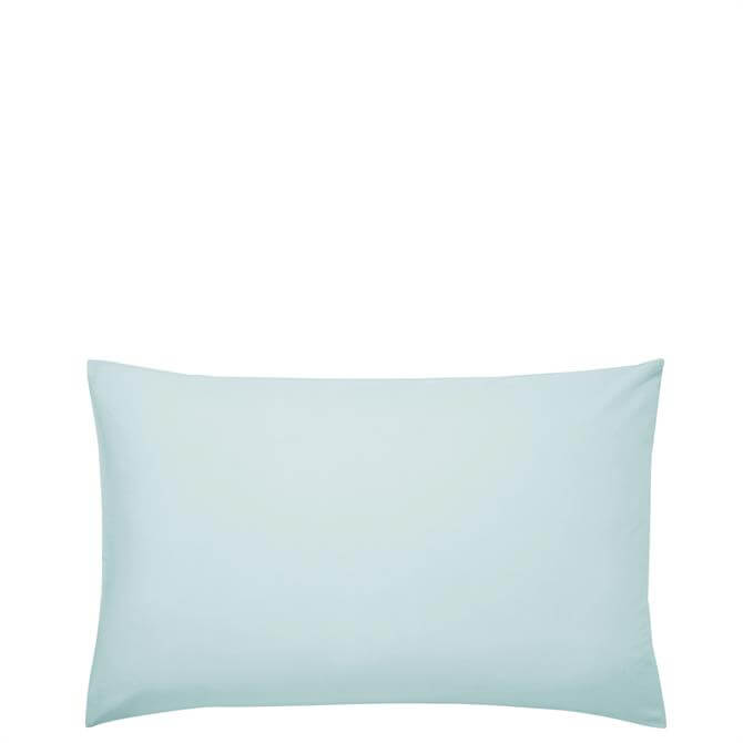 Sanderson Options Plain Dye Duck Egg Pair of Pillowcases