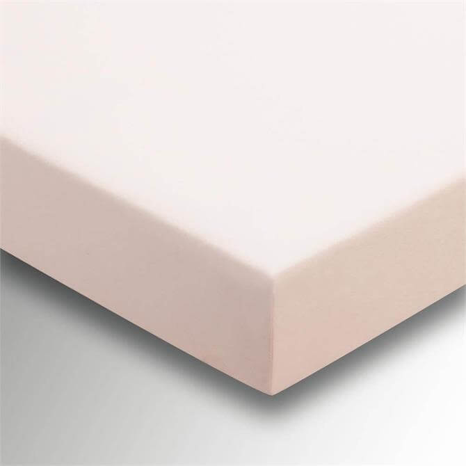 Sanderson Options Plain Dye Soft Pink Fitted Sheet