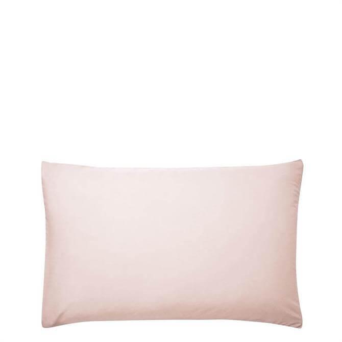 Sanderson Options Plain Dye Soft Pink Pair of Pillowcases