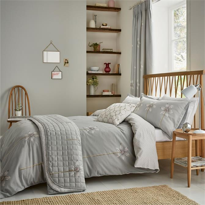 Sanderson Thalia Grey Duvet Cover Set