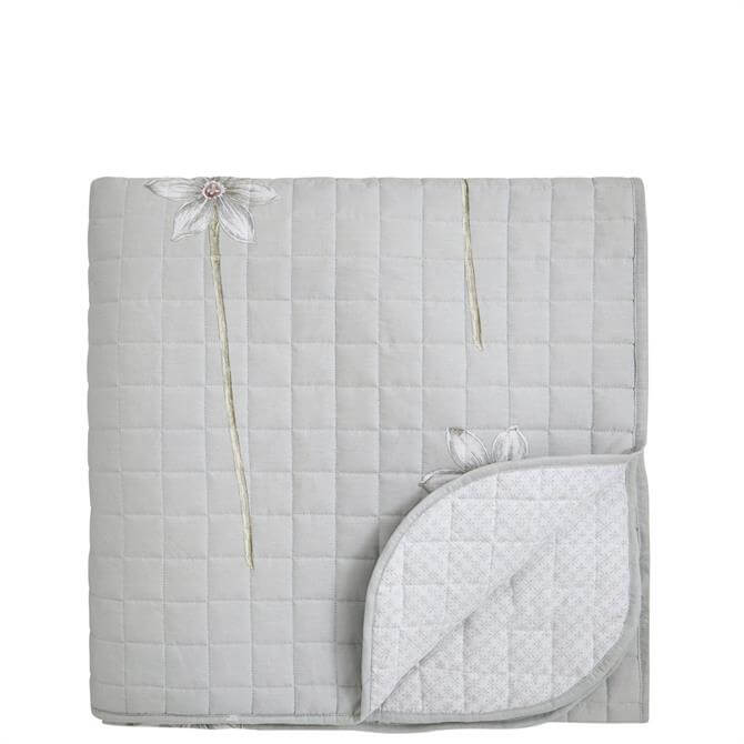 Sanderson Thalia Grey Quilted Throw