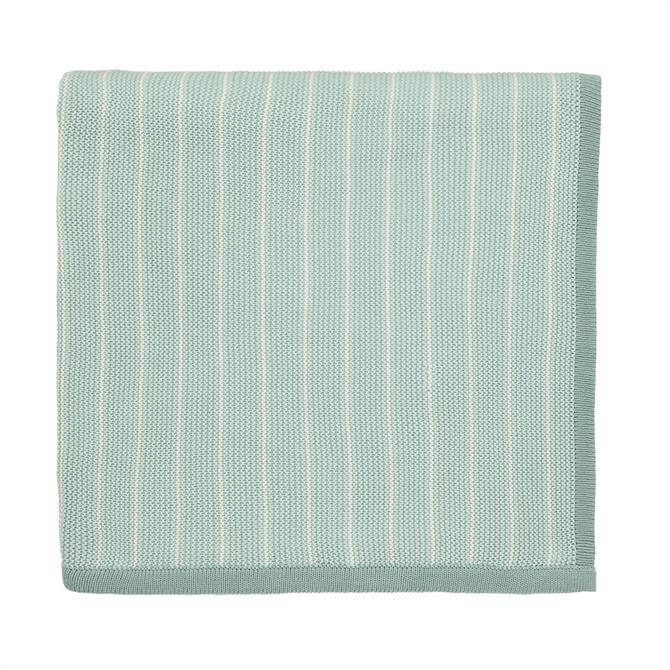 Sanderson Home Aqua Willow Tree Knitted Throw
