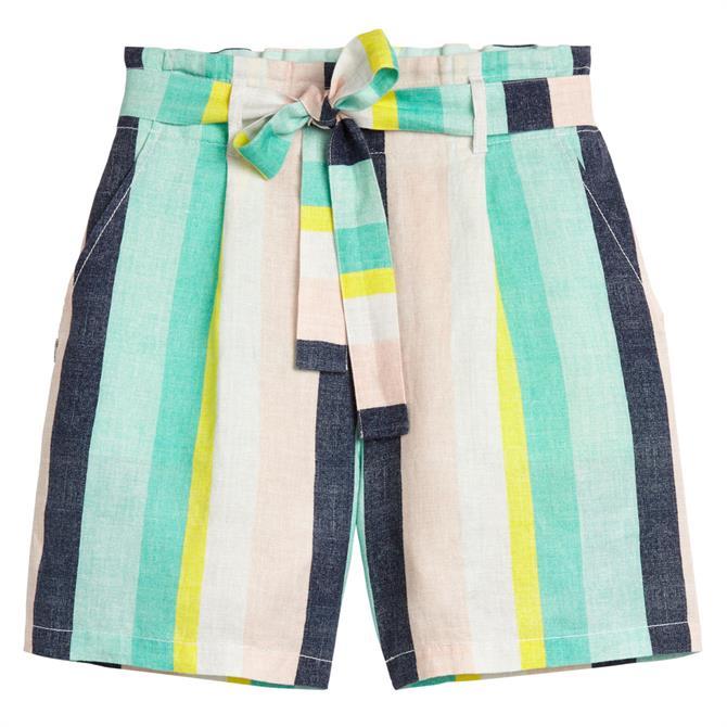 Sandwich Striped Paperbag Shorts