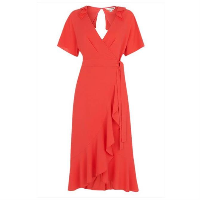 Whistles Abigail Frill Wrap Dress