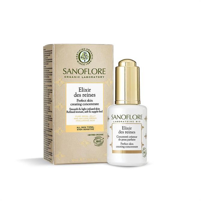 Sanoflore Certified Organic Reines Elixir Des Reines Hyaluronic Acid Plumping Glow Serum 30ml