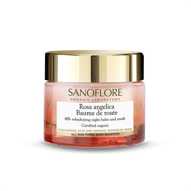 Sanoflore Certified Organic Baume De Rosée Hyaluronic Acid 48hr Rehydrating Night Balm 50ml