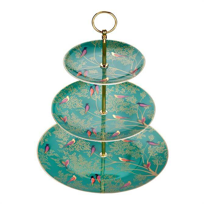 Sara Miller For Portmeirion Chelsea Collection 3 Tier Cake Stand