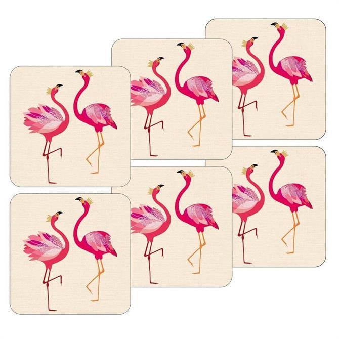 Sara Miller For Portmeirion Flamingo Coasters: Set Of 6