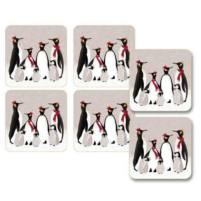 Sara Miller Pengiun Collection Coasters: Set Of 6