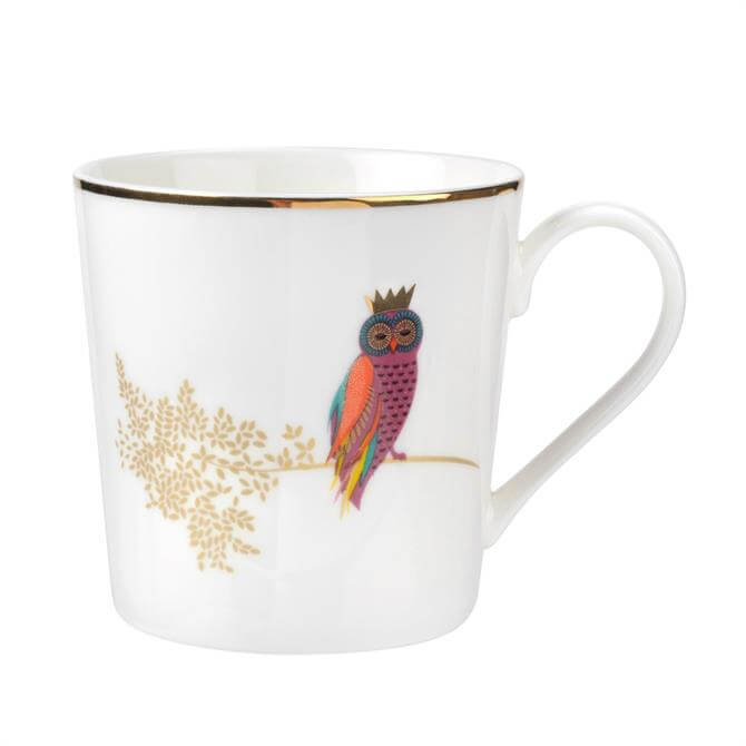 Sara Miller For Portmeirion Piccadilly Collection Mug: Opulent Owl