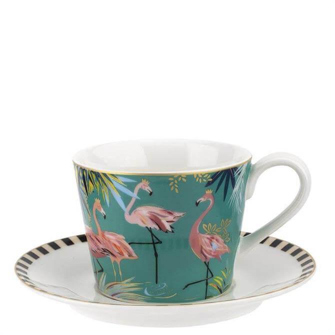 Sara Miller London The Flamingo Tahiti Teacup & Saucer
