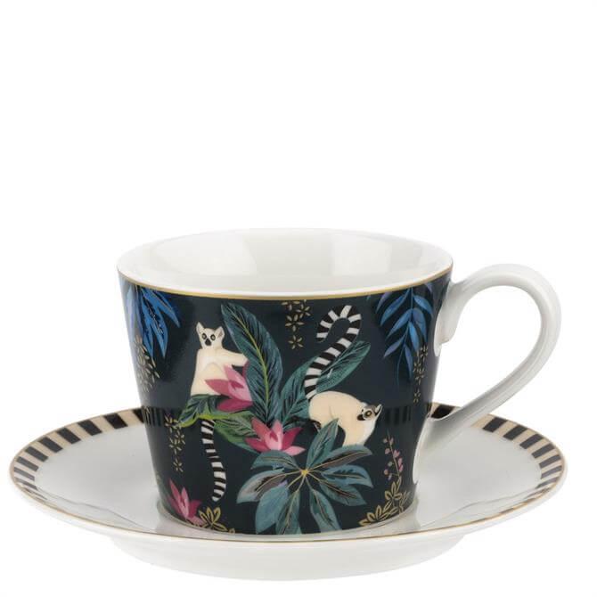 Sara Miller London Lemur Tahiti Teacup & Saucer