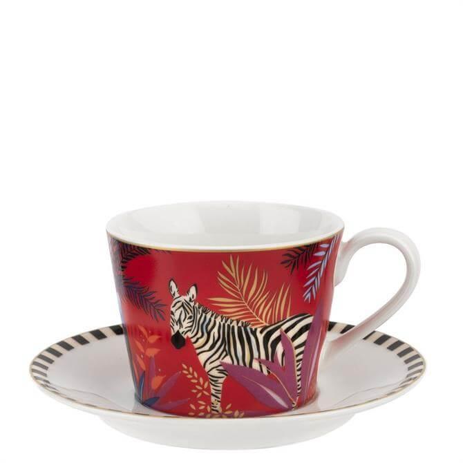 Sara Miller London Zebra Tahiti Teacup & Saucer