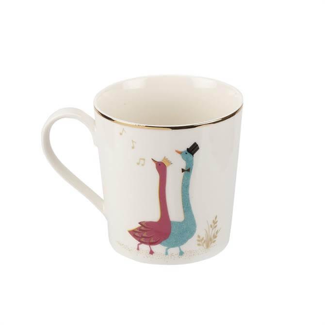 Sara Miller London Piccadilly Gliding Geese Mug