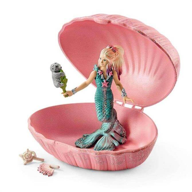 Schleich Mermaid With Baby Seal In Shell 70564
