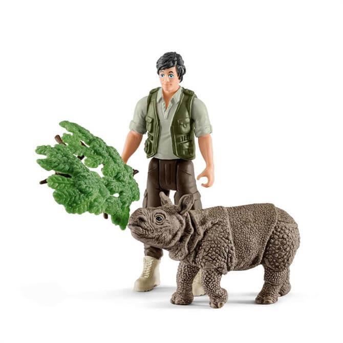 Schleich Ranger & Indian Rhinoceros Starter Set