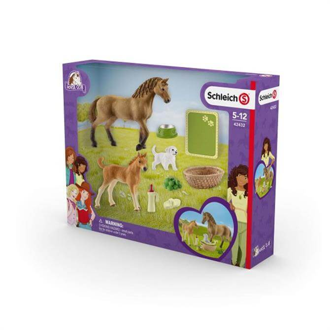 Schleich Horse Club Sarah's Baby Animal Care 42432