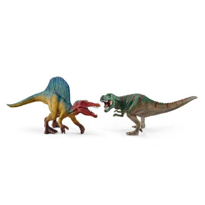 Schleich Small Spinosaurus and T-Rex