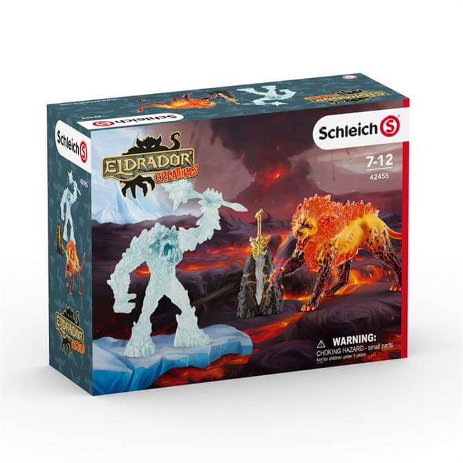 Schleich Battle for the Superweapon Frost Monster vs Fire Lion