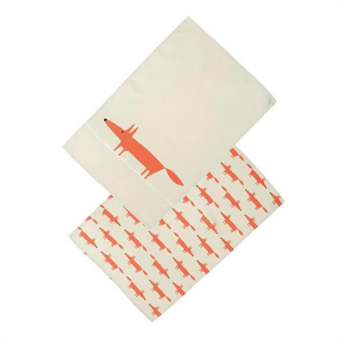 Scion Mr Fox Set of Two Tea Towels