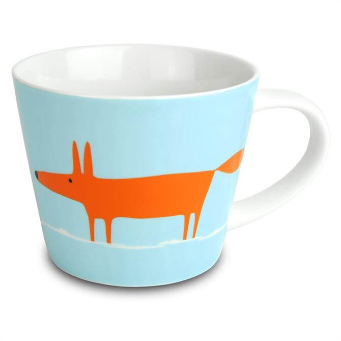 Scion Mr Fox Large Mug: Duck Egg & Orange